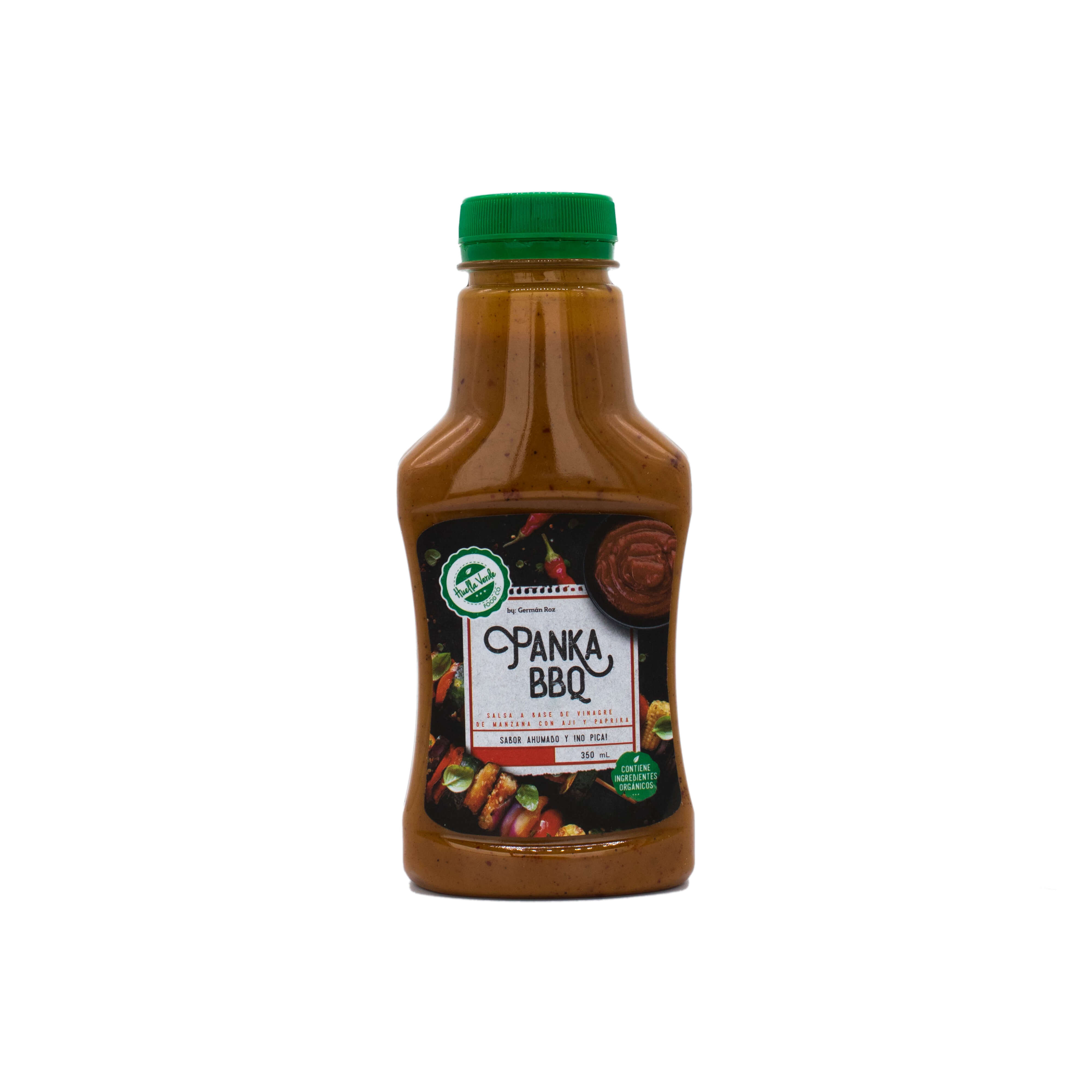 Ahumada, dulce y picante sutil Ingredientes: Panela orgánica, paprika, aji panka, vinagre de manzana, aceite de oliva   Frasco 350ml