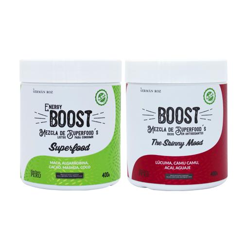 ¡Disfruta de tus boost favoritos!  Productos hechos con insumos 100% reales, veganos, libre de azúcar y grasas, rico en antioxidantes. Este producto por su naturaleza no contiene gluten.