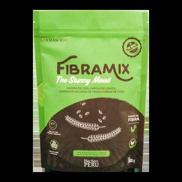 ¡Disfruta la nueva Fibra Mix!  Elaborada con insumos 100% naturales y peruanos, rico en omega. Evita problemas de estreñimiento, favoreciendo y regulando el sistema digestivo.  A base de harina de chia, harina de linaza, harina de salvado de trigo y harina de kion  *No contiene azúcares ni endulzantes añadidos  Doypack 300gr.