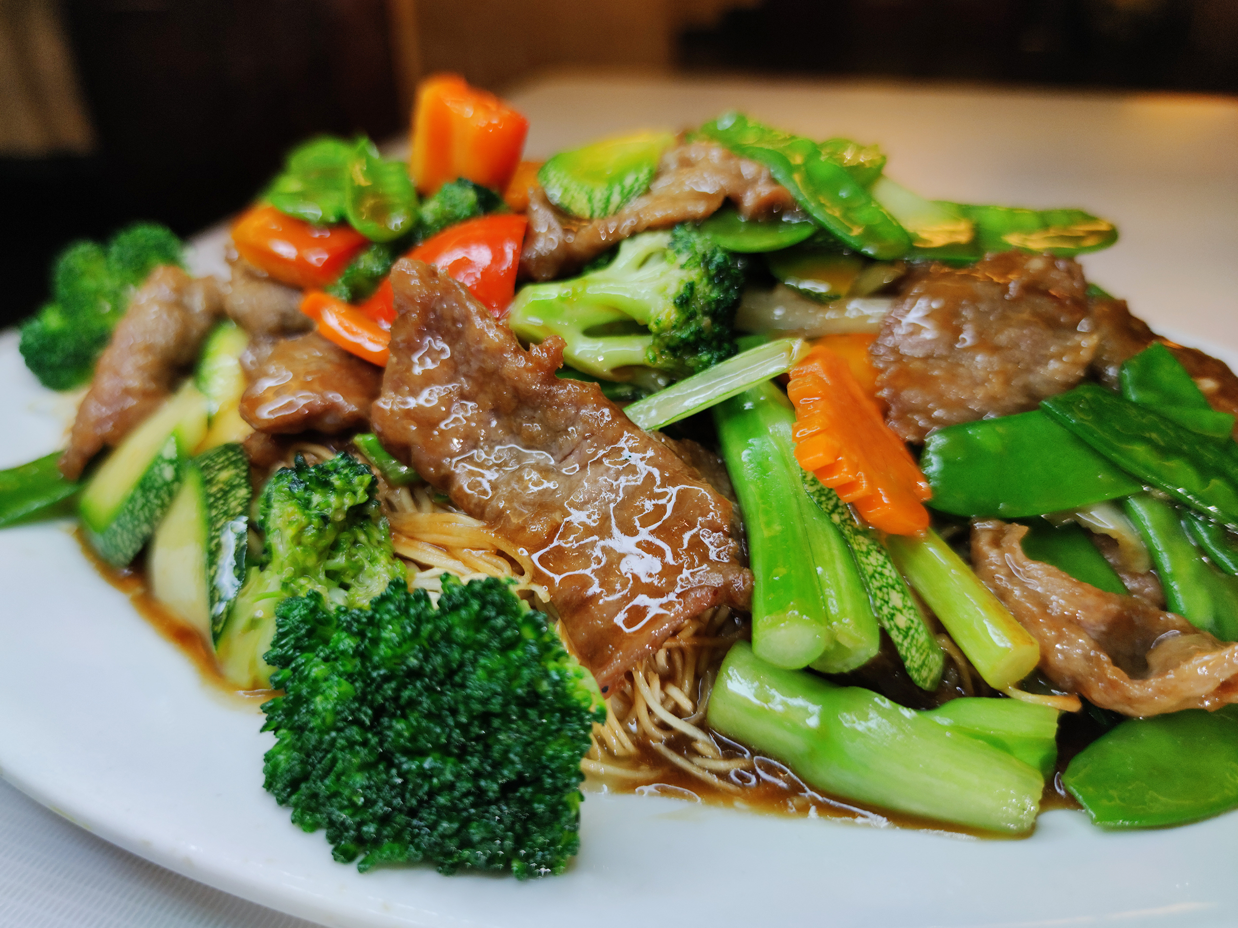 Con verduras mixta.