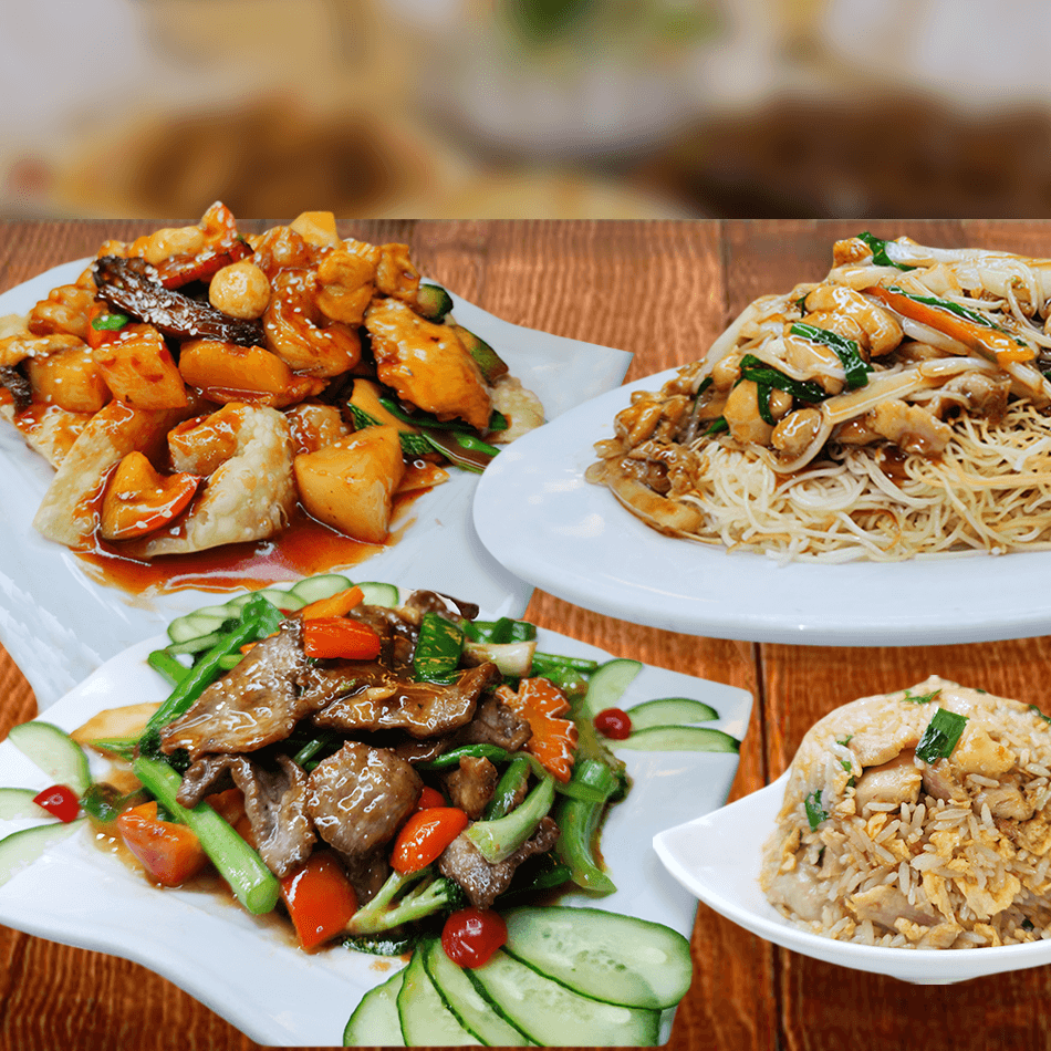 - Kam Lu Wantán - Carne de res salteada con verduras - Tallarín salteado con pollo - Arroz chaufa con pollo