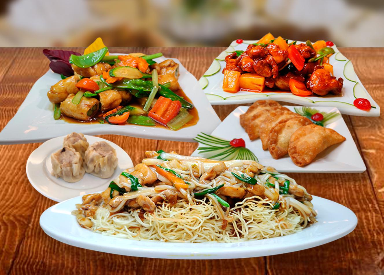 ** Para 4-5 personas **  - 04 Siu Kay Frito  - 04 Siu May  - Pollo con Piña  - Pollo enrollado con espárragos  - Tallarin de pollo  -Arroz chaufa especial