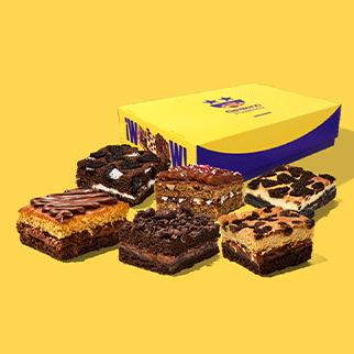 Nuestros deliciosos Brownies artesanales en una versión para compartir, en cajita de 6 unidades. Encuentra estos sabores:  Brownie Choco Nutella Brownie Triple Chocolate Brownie Cheesecake Oreo Brownie Chocolate Oreo Brownie Manjar Blondie Brownie Cookie Chips