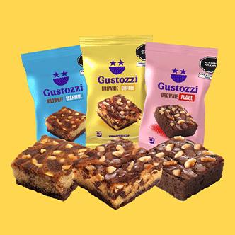 Nuestro pack con mucho más sabor de nuestros Brownies clásicos. Contiene:  6 Brownies Fudge 6 Brownies Mármol 6 Brownies Café