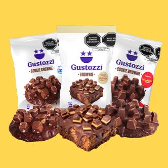 Un mix de sensaciones en este pack, con los más deliciosos Brownies y Cookies con toppings. Contiene:  2 Brownies Princesa 2 Brownies Sublime 2 Brownies Triángulo 2 Cookie Brownies Princesa 2 Cookie Brownies Sublime 2 Cookie Brownies Triángulo