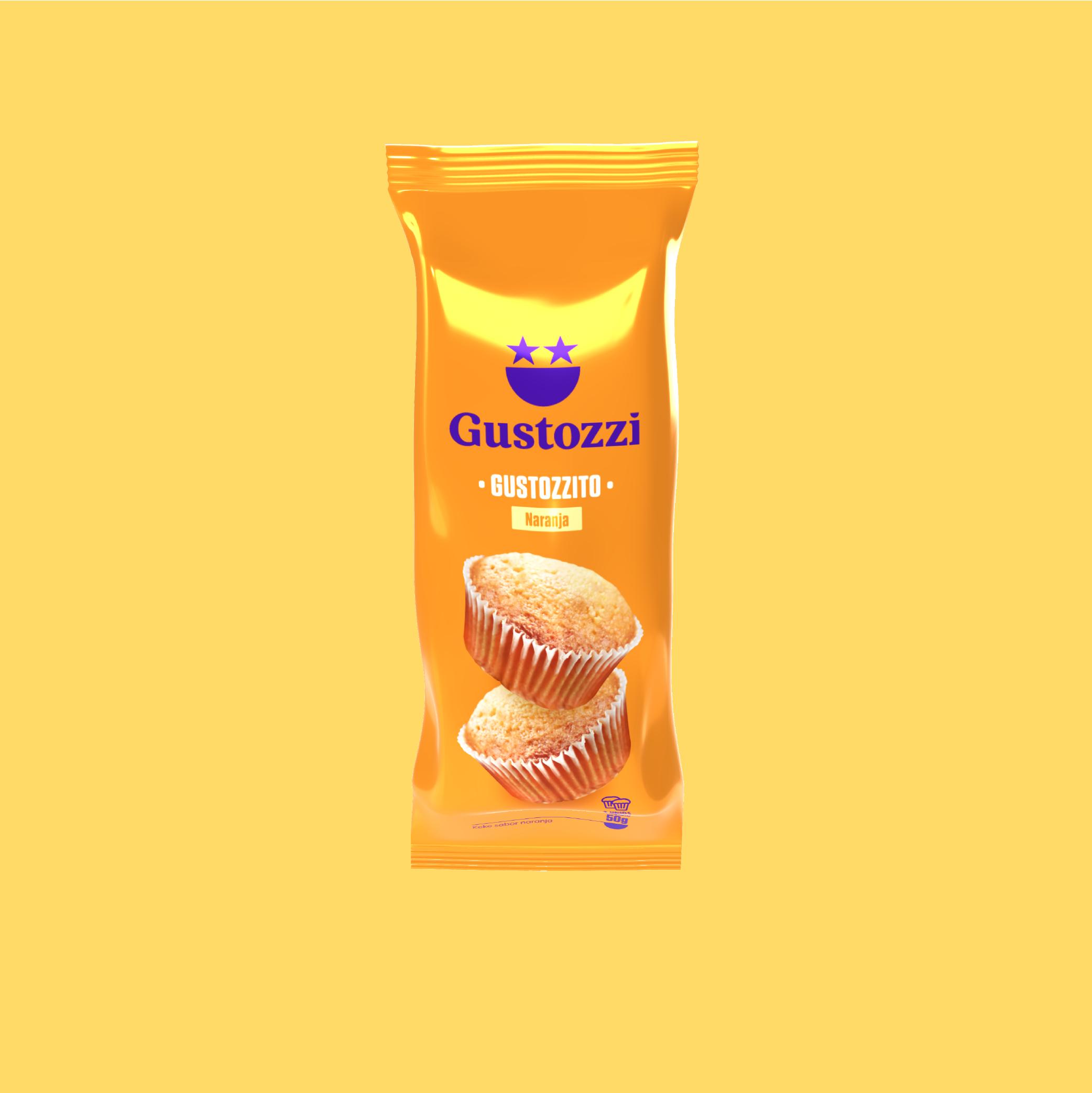 Disfruta 2 kekitos consabor a naranja, hechos como en casa. No contiene octógonos.