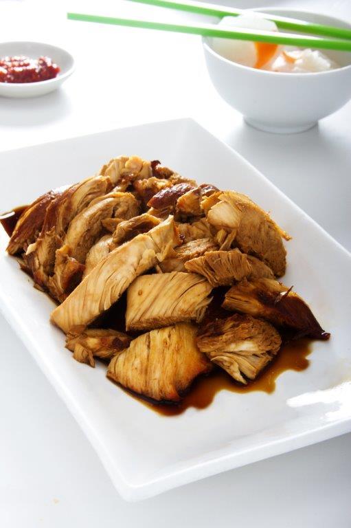 Deliciosa pechuga de pollo al sillao