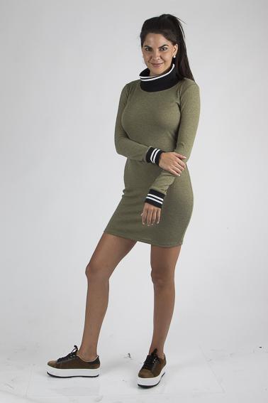 Vestido de Algodón acanalado medio. ¡Úsalo con vestido o con tu jean favorito!