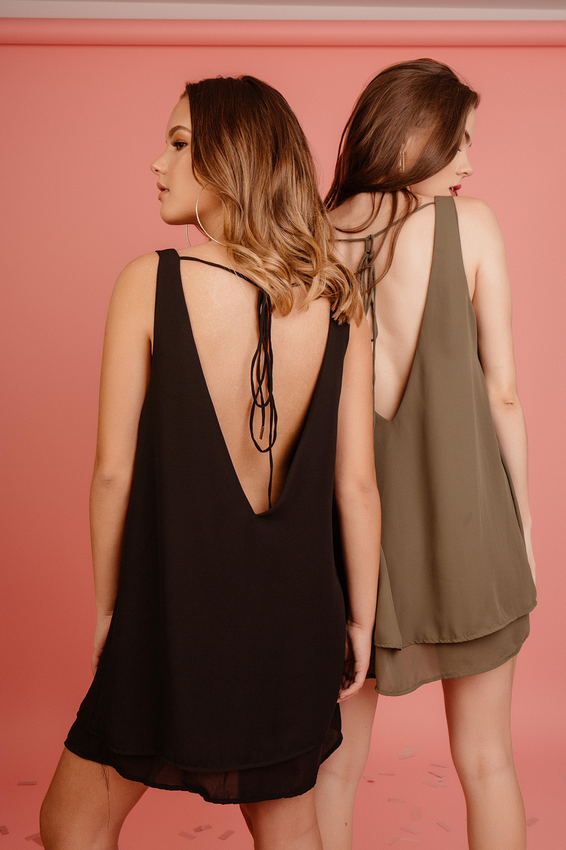 Vestido de gasa. La tela es super suave y cómoda, pero perfecta para un look elegante!