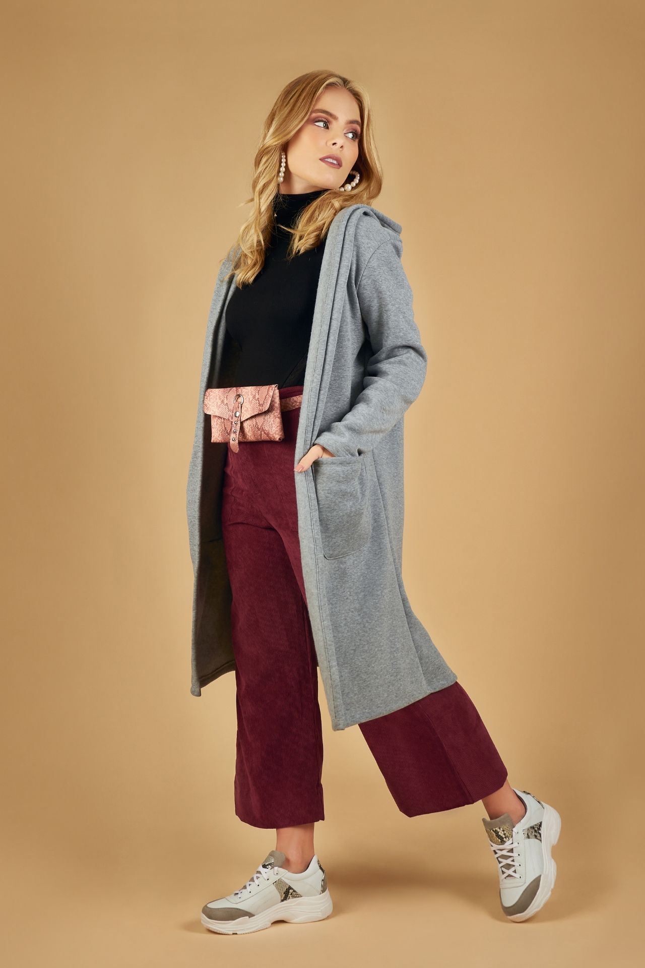 Abrigo largo de algodón.