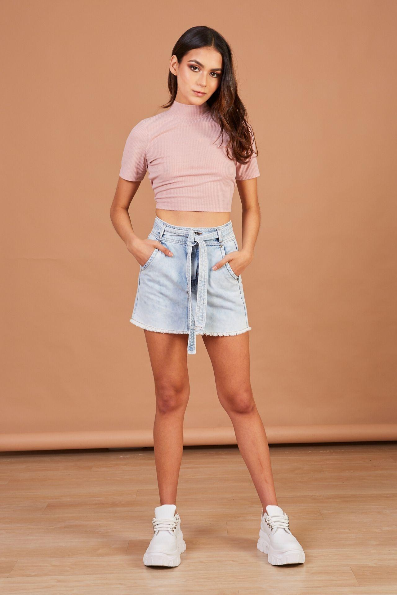 Mini falda denim.  Material: 100% algodón