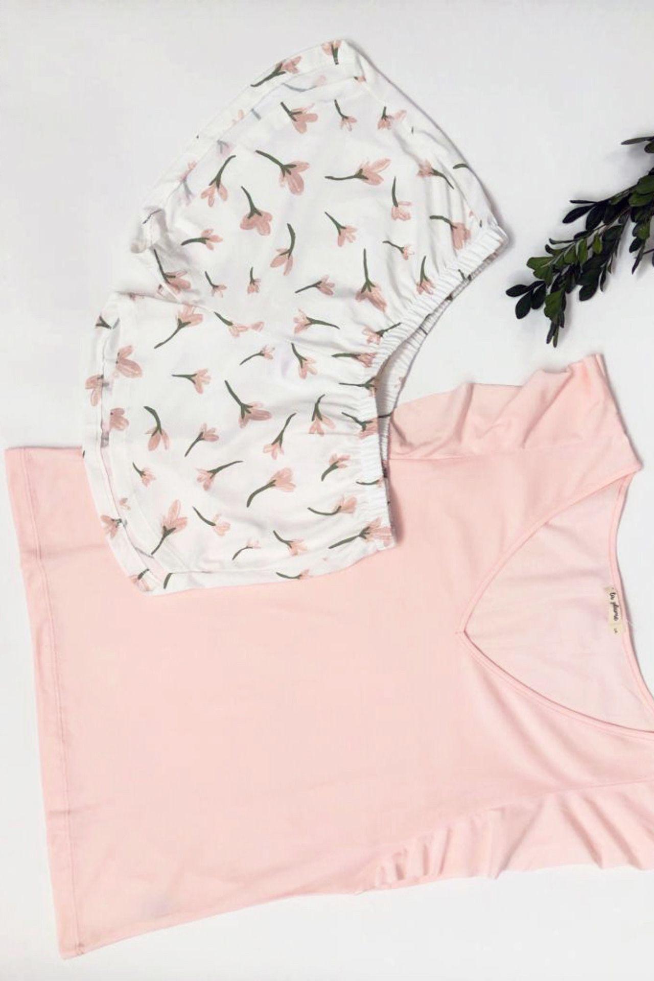 Pijama de dos piezas.  Material: 100% algodón pima.