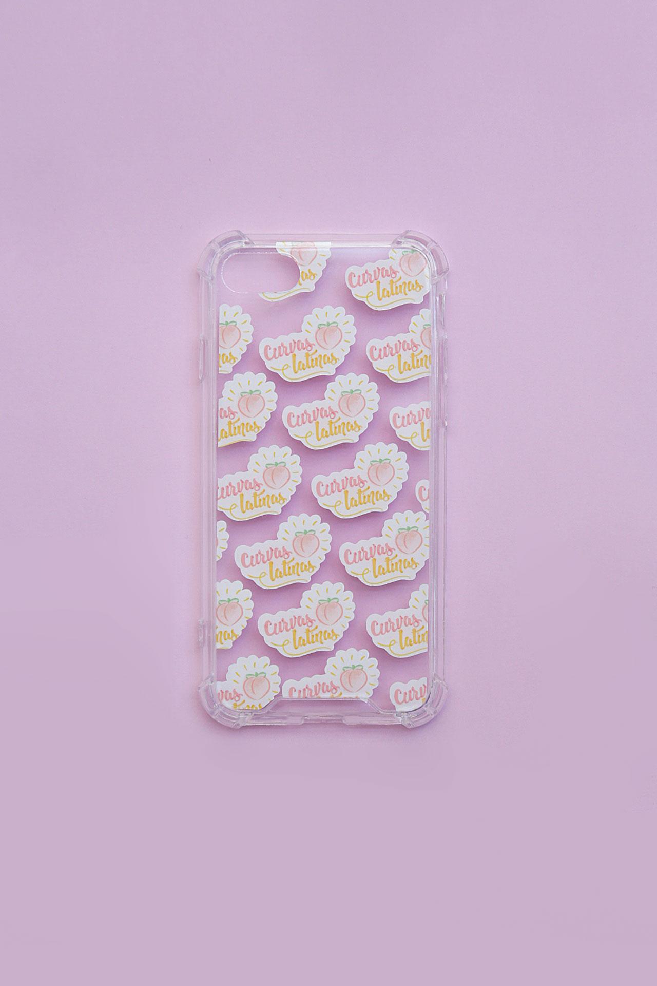 """Case de celular para Iphone 7 y 8, 7 y 8 Plus, X y XS y 11 pro max, diseñado para decorar y proteger tu celular con una empoderadora de """"Curvas Latinas""""."""