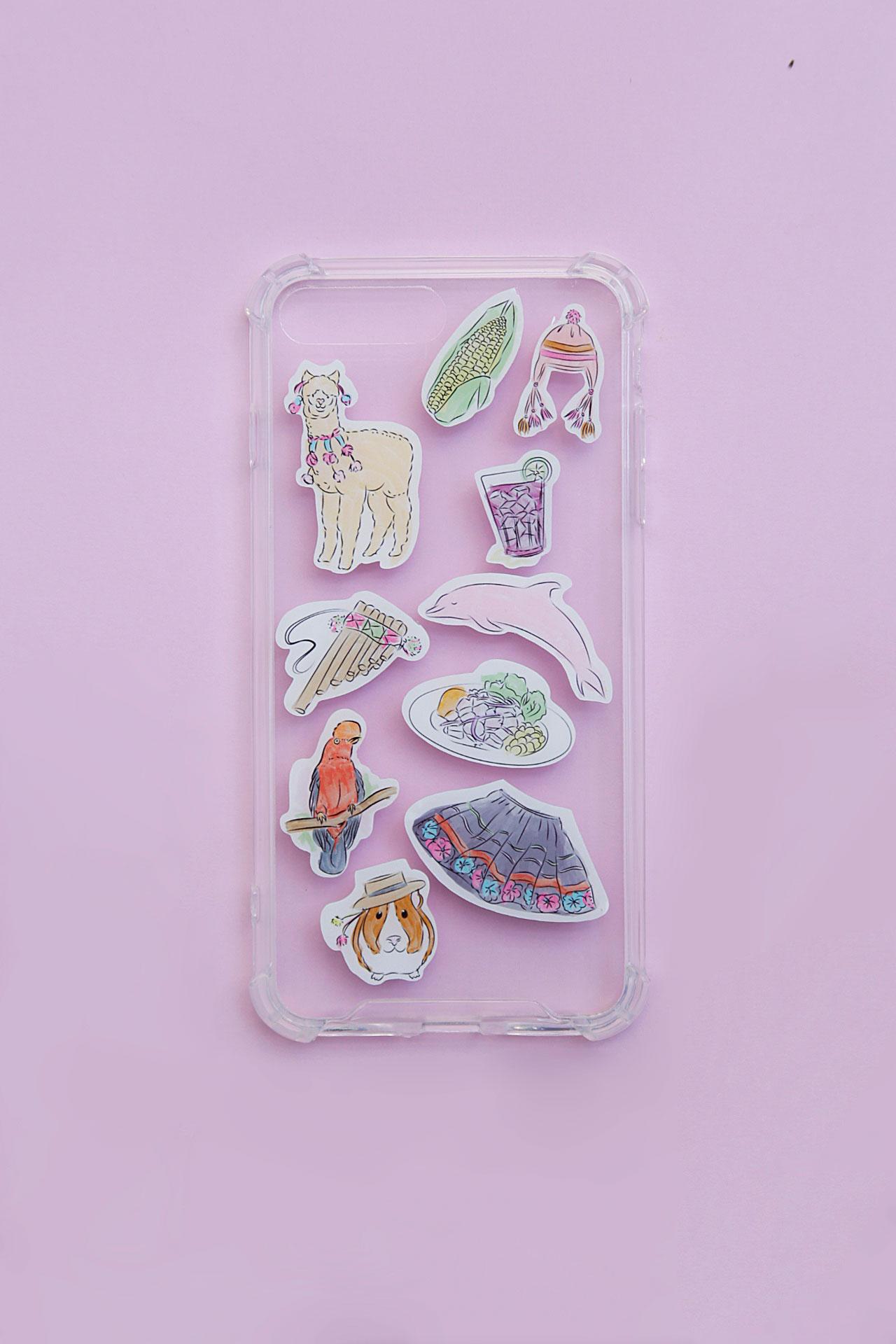 Case de celular para Iphone 7/8, 7/8 Plus, X/XS y 11 pro maxdiseñado para decorar y proteger tu celular con una temática que recoge elementos peruanos super chicks.