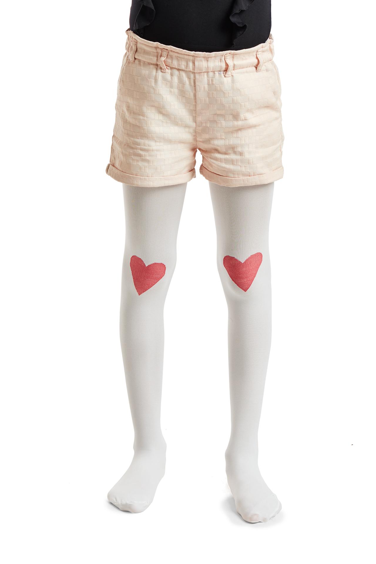 Textura lisa, corazon bicolor, panty media