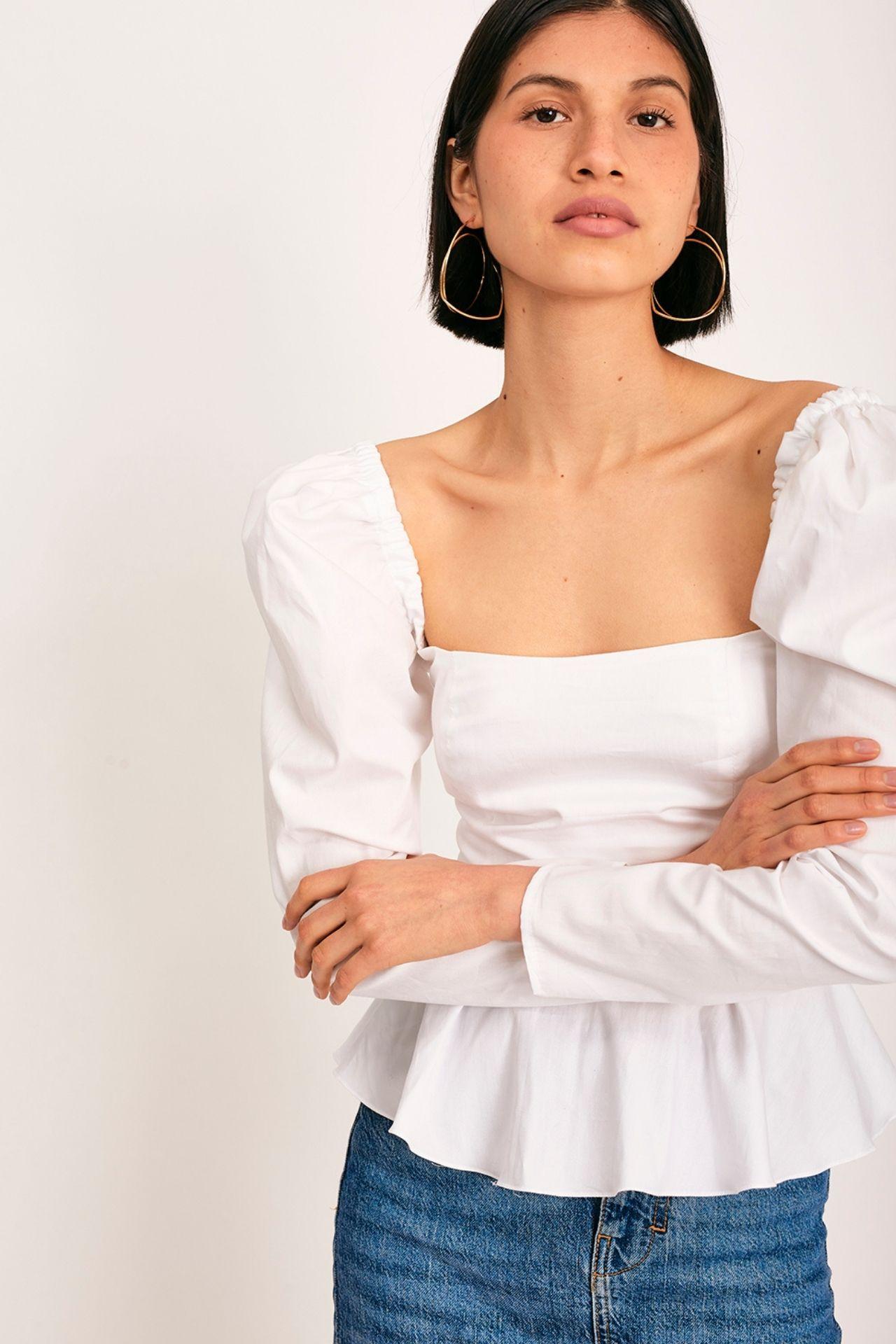 Blusa de algodón pima