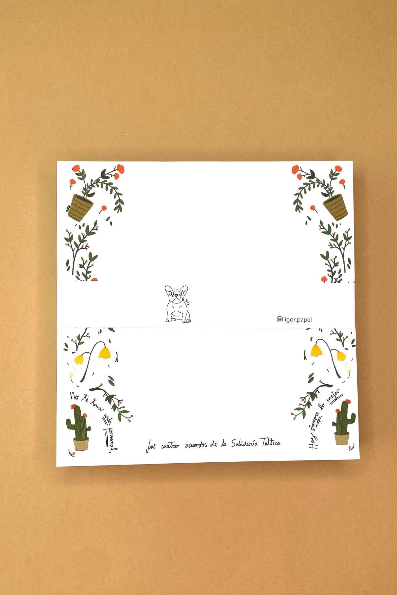 Block de papel.  Medida:16 cms x 16 cms.  Cantidad de hojas: 160