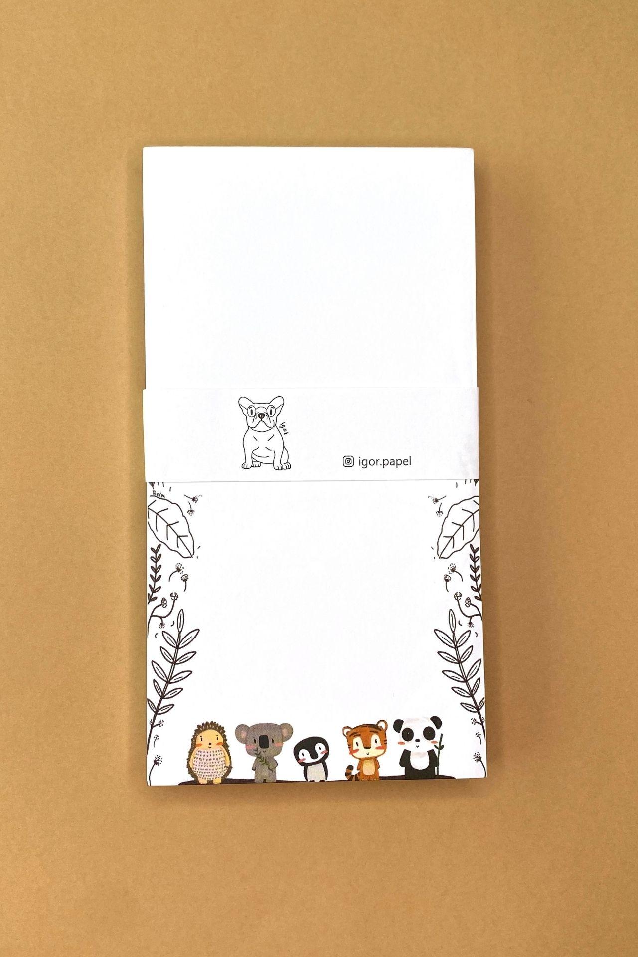 Block de papel.  Medida:17cms alto x 9 cms ancho.  Cantidad de hojas: 80