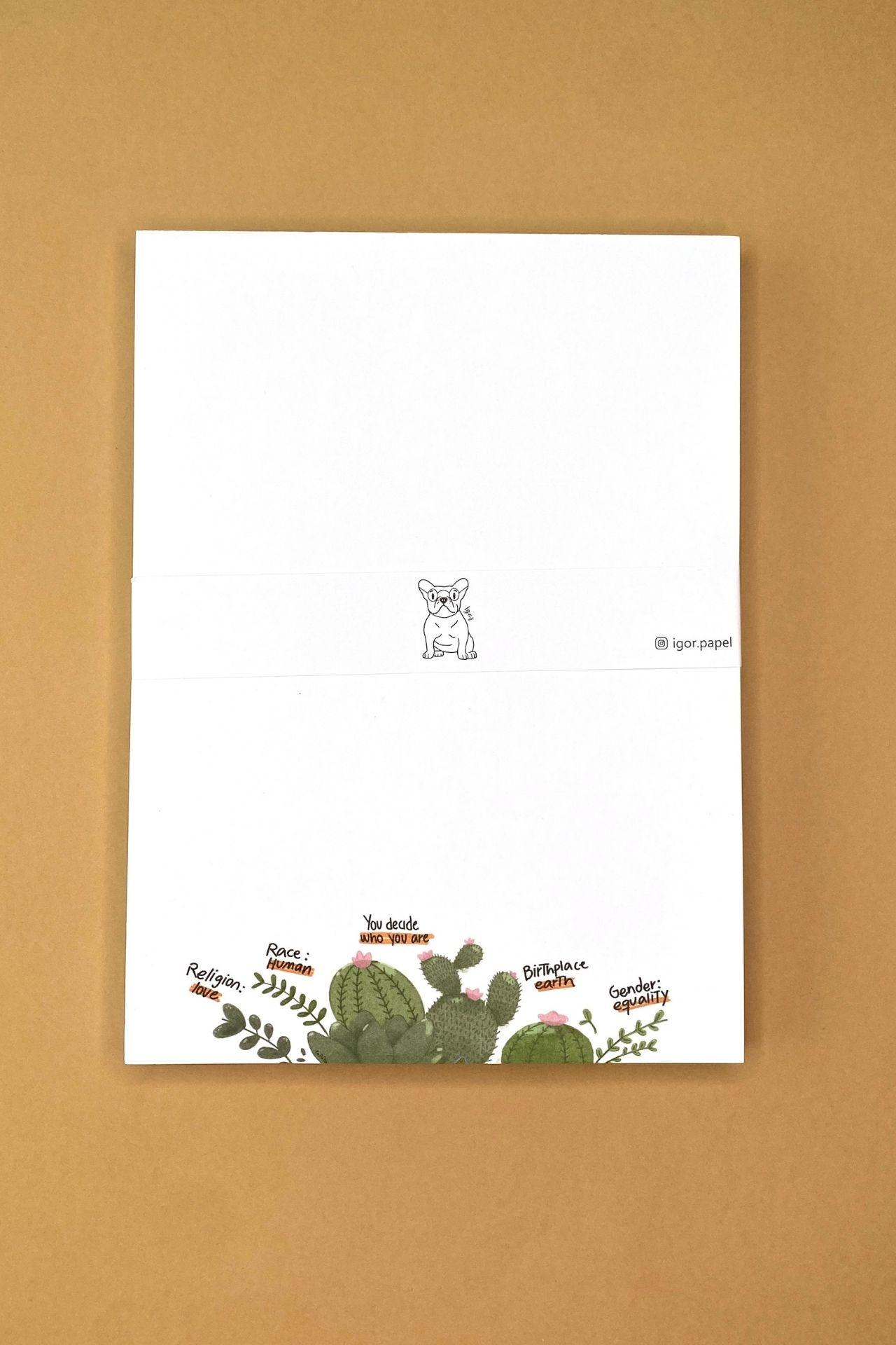 Block de papel.  Medida: 20cms alto x 15cms ancho.  Cantidad de hojas: 80