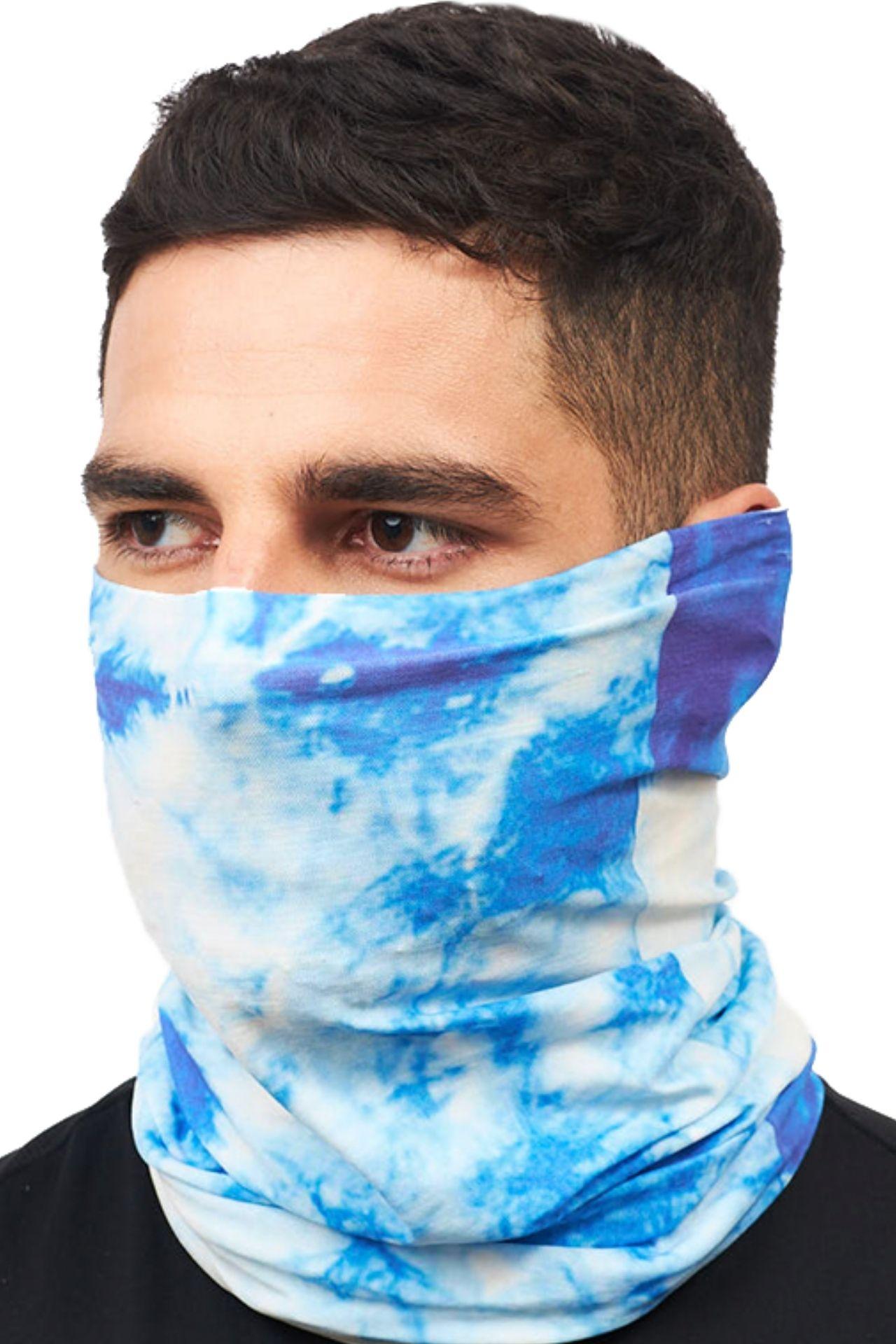 Superfit seamless bandana light microfibra multifuncional sublimado sky tie dye