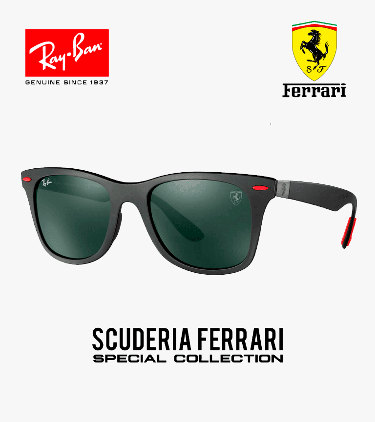 Estado:DISPONIBLE EN STOCKModelo:RB4195M Ferrari CollectionEstilo:WayfarerTalla:52mmColor:Negro / RojoOrigen:Made in ItalyProtección:100% UV 400 PolarizadoNota:Certificado, estuche rigido, pañuelo de lentes, caja original.  ACEPTAMOS TODAS LAS TARJETAS:     ::: ENVIOSA TODO EL PERU :::     Entrega compra por la web:De 2a 3días hábiles.Nota:Realiza tus consultas porWhatsapp 975359338  Rayban Peru, LENTES RAYBAN FERRARI